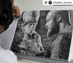 . . #Vikings #Draw #Drawing #Art #Fanart #Artist #Illustration #Design #sketch #doodle #tattoo #Arthelp #Anime #Manga #Otaku #Gamer #Nerdy #Nerd #Comic #Geek #Geeky . . Geek drawings gallery.  Use #ArtForGeeks for a chance to be featured  Artist credit