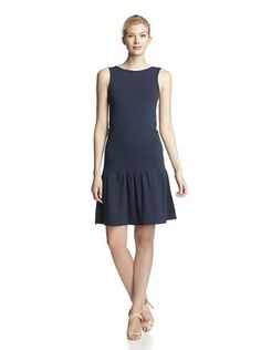 50% OFF RED Valentino Women's Scallop Knit Dress (Blue)