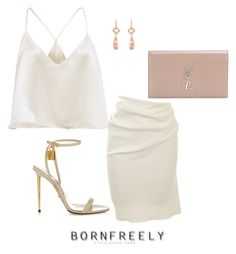 """""""Untitled #1099"""" by bornfreely on Polyvore featuring Lanvin, NSR Nina Runsdorf, Tom Ford and Yves Saint Laurent"""