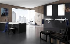 An extensive choice of square design bathroom fixtures and fittings. Square taps, square bath mixers, and square shower heads. Bathroom Taps, Bathroom Fixtures, Bathroom Inspiration, Interior Design Inspiration, Square Bath, Bath Mixer, Bathroom Collections, Grand Designs, Blog Deco
