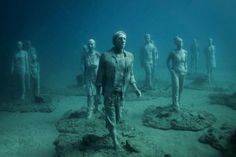 Hyperrealistic Human Sculptures Submerged In Europes First - Europes first ever underwater museum is full of hyperrealistic human sculptures