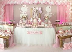 Baby Shower Decorations for little Princess Ballerina Party Decorations, Ballerina Birthday Parties, Princess Birthday, Baby Birthday, Baby Shower Decorations, Shower Party, Baby Shower Parties, Baby Shower Themes, Shower Bebe