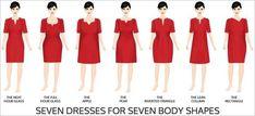 Trouvez la bonne coupe de robe pour votre corps. | 41 graphiques utiles dont toutes les femmes ont besoin
