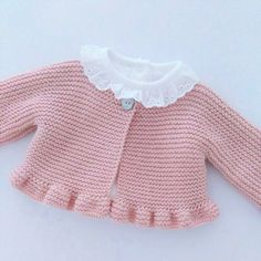 Knitting For Kids, Baby Knitting Patterns, Crochet For Kids, Knit Crochet, Baby Cocoon Pattern, Knitted Baby Clothes, Baby Cardigan, Baby Sweaters, Baby Blanket Crochet