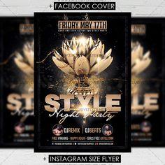 Style Night Party - Premium A5 Flyer Template https://www.exclusiveflyer.net/product/style-night-party-premium-a5-flyer-template/