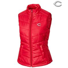 Cincinnati Reds Women's Double Major Quilted Vest by Cutter & Buck - MLB.com Shop