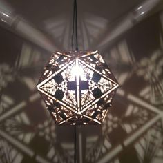 Ceiling Pendant, Ceiling Lights, Platonic Solid, Beaded Curtains, Wood Lamps, Hanging Pendants, Incandescent Bulbs, Window Coverings, Baltic Birch