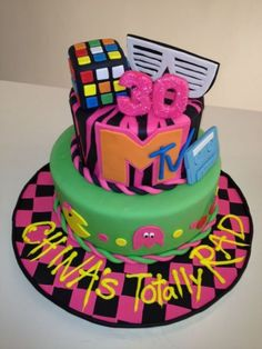 1000 images about cakes on pinterest fondant fondant for 80s cake decoration ideas