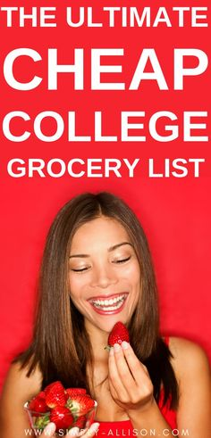 I'm not sure if it's only me but every time I go to the grocery store I end up walking around for hours in buying stuff that I don't need.This It's college grocery list is to encourage you to plan out your meals for the week. It also helps keep you organized and what ingredients to include this week. Here is the best college grocery list for students that is perfect for dorms and college apartments. #collegegrocerylist #collegegrocerylistonabudget #healthycollegegrocerylist College Dorm Food, College Grocery List, College Meals, Scholarships For College, College Fun, Grocery Lists, Grocery Store, College Hacks, Easy Meals For One