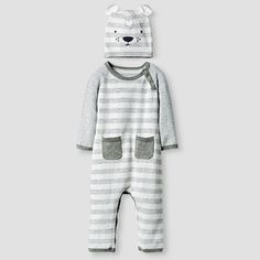 d9bdd174441 The Boys  Organic Sweater Romper and Hat Set by Baby Cat  amp  Jack is