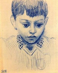 Portrait d'enfant (Claude) by Pablo Picasso