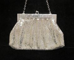 Fantastic Wedding or Formal Vintage 1940's Whiting & Davis Silver Mesh Purse From PowerOfOneDesigns