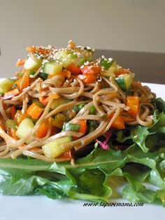 la pure mama.: Chilled Asian Noodle Salad