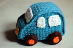 crochet toy car free pattern for boys!
