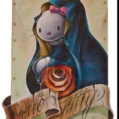 Hello Kitty Virgin Mary!! Sac relig maybe.. Do I love?? UMM YESSSS!!