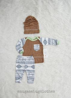 Tribal Baby Boy Coming Home Outfit with by SnugAsaBugClothes