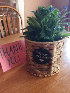 Thirty-One Gifts Your Way Bin with some Forget Me Not flowers…
