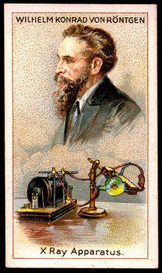 Cigarette Card - Wilhelm von Rontgen by cigcardpix, via Flickr
