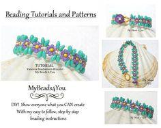 Beadwork Bracelet Pattern PDF Beading Pattern, Beadweaving Tutorial Pattern, Seed Bead Tutorial, PDF Superduo Tutorial, Beading Instructions