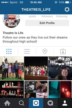 @theatreis_life on Instagram!