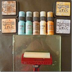 Brenda experiments with Distress Inks and the Gelli plate! Lots of pictures and useful information for those considering the same! Destination Inspiration – Gelli Distress