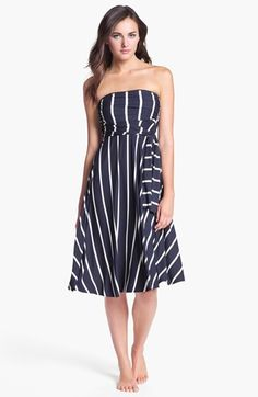 Elan Stripe Convertible Cover-Up Dress | Nordstrom