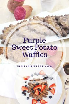 These Purple Sweet Potato Waffles are not just pretty, they're full of nutrition and absolutely delicious. Great way to start your day fueled with energy! These are gluten-free, refined sugar-free and dairy-free.  via @ThePeacheePear