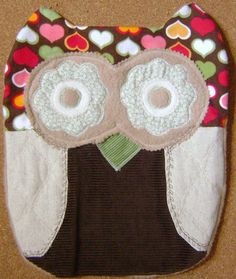 Soft and Cuddly  Sweetheart Owl Pillow by kalenescustomgifts, $23.00