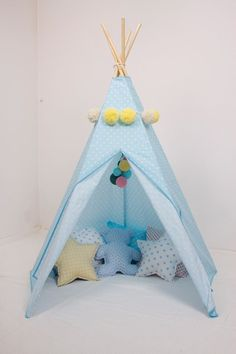 #pacztipi #pacz #teepee #tipi #wigwam #tent #crochet #pillows #stars #clouds #radosnafabryka #handmade Cotton Fabric, Toddler Bed, Furniture, Home Decor, Homemade Home Decor, Cotton Textile, Home Furnishings, Interior Design, Home Interiors