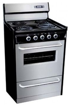 "TEM630BKWY Professional Series 24"" Freestanding Electric Range with Manual Clean contemporary-gas-ranges-and-electric-ranges"