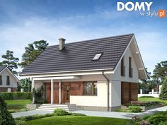 Anka mały energooszczędny dom o prostej bryle - Jesteśmy AUTOREM - DOMY w Stylu