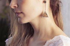 Brinco Pirâmide - #earring#pyramid#joias#jewelry#lojavirtual#shoponline#anapalacio