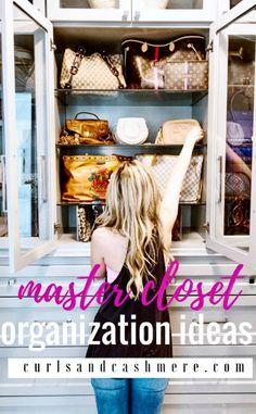 master closet organization ideas by popular Oklahoma lifestyle blogger Curls & Cashmere