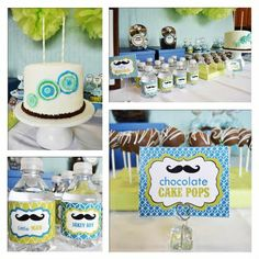 Little Man Mustache Bash. Will add something for my little lady to make it a twin b-day party. Maybe for #3.