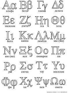 the greek alphabet free printables