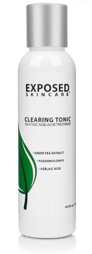 Clearing Tonic  Acne clearing toner w Salicylic Acid Azelaic Acid Green Tea Extract and Sage *** You can find out more details at the link of the image.