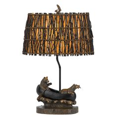 Cal Lighting 27 in. One-Light Table Lamp in Antique Bronze, Rustic/Lodge Grey Table Lamps, Light Table, Tree Stump Table, Rustic Room, Resin Table, Lamp Design, One Light, Floor Lamp, The Help