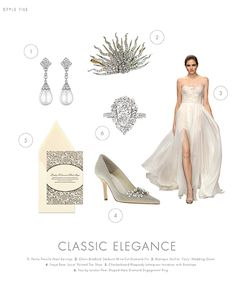 Soft hints of lace and crystals exude a sense of romanticism and glamour for the big day! Accessorize your wedding gown with some statement jewels and you'll create a classic elegant look! #librideandgroom #elegance #romantic #statement #classic
