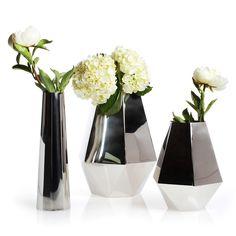 Stainless Steel Hex Flower Vases