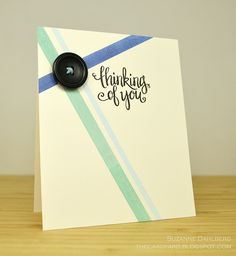 handmade card ... like this clean and simple design ... has a lot of possibilities for more cards ...