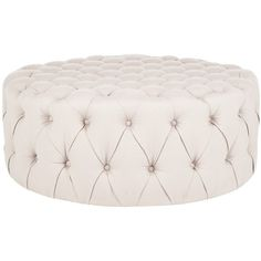 Charlene Taupe Ottoman ($753) ❤ liked on Polyvore featuring home, furniture, ottomans, chair, decor, circular ottoman, round furniture, round footstool, oversized furniture and oversized ottoman