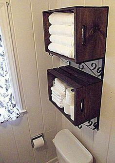 Repurpose Wood Shutter Idea For The Bathroom I M So