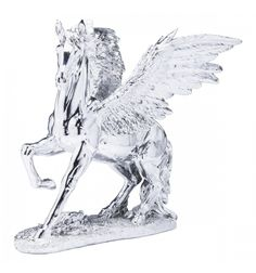Statua Decorativa Pegaso Cromata Kare Design