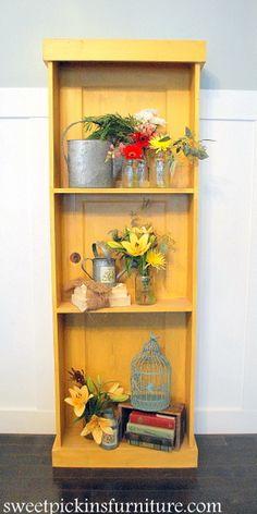 Old door turned shelf...easy to do