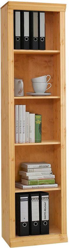 Praktisches Regal in zwei Breiten. Aus FSC®-zertifizierter massiver Kiefer. Mit zwei verstellbaren Einlegeböden, Fachinnenmaße (B/T/H): 45-90/30/ca. 32 cm. Die Dekoration ist nicht im Angebot enthalten. Alle Maße sind ca. Maße. Bitte beachten Sie, dass eventuelle Holzmaserungen sichtbar sein können, was einen Beweis für Echtholz darstellt. Außenmaße (T/H): 34/115 cm.   Artikeldetails:  Im moder...