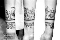 Flower wrist band tattoo - Black Poison Tattoo Studio