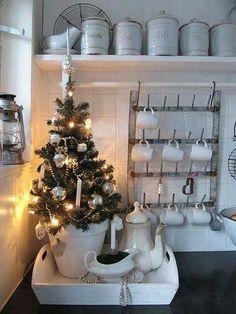 Julepynta på kjøkkenet