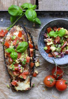 Eggplant with salsa