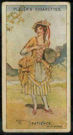 Amazon.com: Patience 1925 Player Cigarettes Gilbert and Sullivan #22 (FAIR) crease: Collectibles & Fine Art
