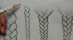 Different ways to draw braids